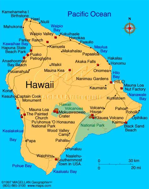 hawaii hauptstadt karte