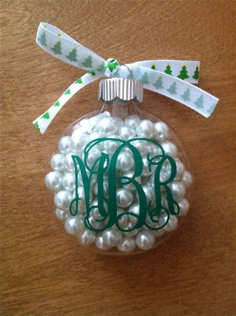 diy monogram christmas ornament monogram madness