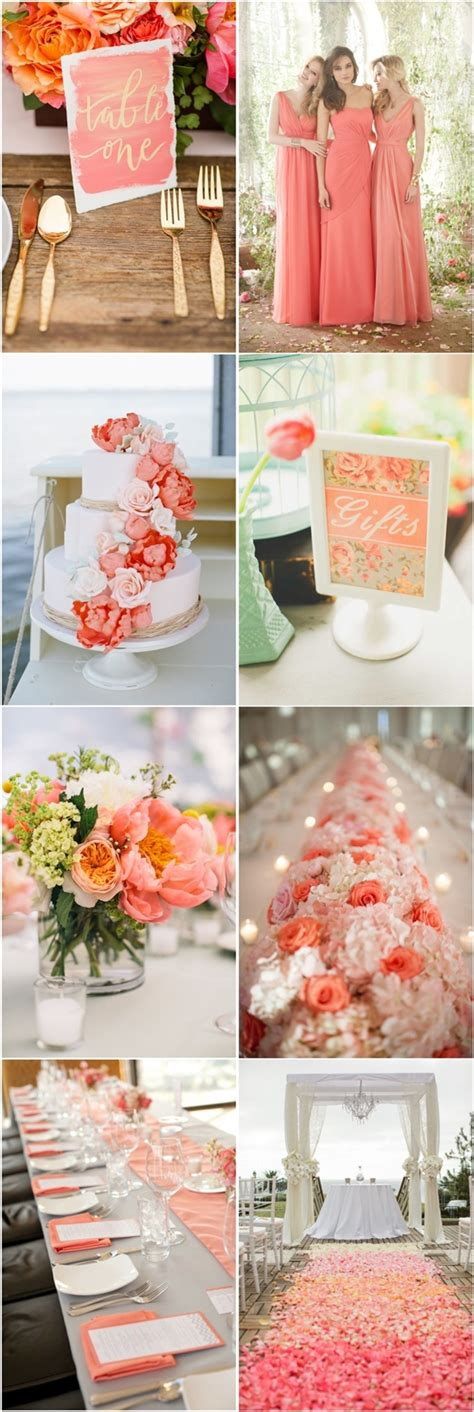 45 coral wedding color ideas you don t want to overlook deer pearl flowers