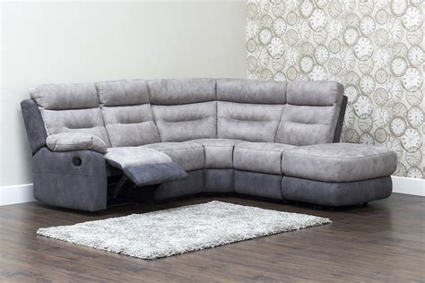 Corner Sofas With Recliners Dillon Fabric Recliner Corner Sofa