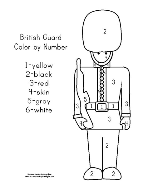coloring page guard guards free colouring pages