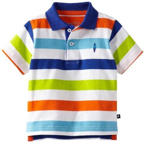 kitestrings baby boys infant yarn dye jersey stripe polo