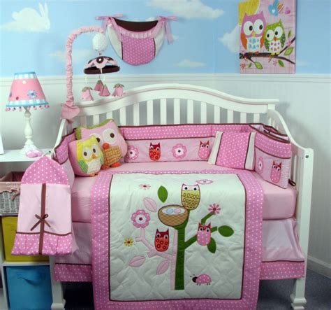 Pink Owl Crib Bedding Soho Designs Pink Owl Tree Baby Crib Nursery Bedding Set 14 Pcs Included Bag With