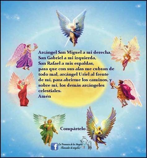 oracion  los  arcangeles arcangeles pinterest angel