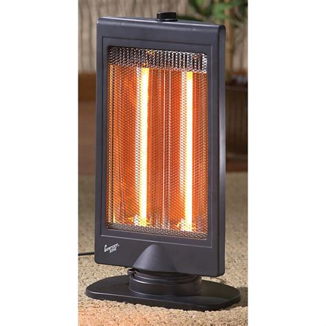 comfort zone outdoor equipment comfort zone 174 flat panel oscillating halogen heater