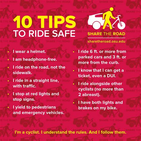 10 Tips To Be A by The Road Sharetheresponsibility