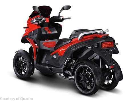 quadro  tilting wheeled scooter  motorcycle usa