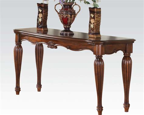 traditional sofa tables traditional sofa table dreena by acme furniture ac10292