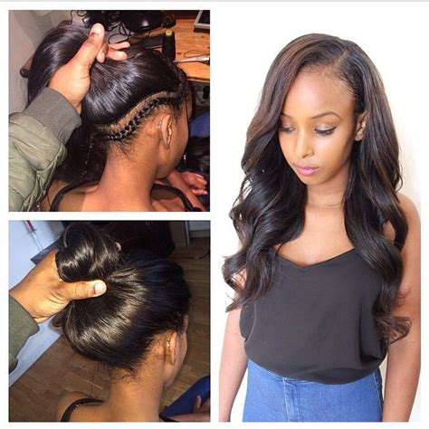 hair do with sew in weave with a part in the middle best 25 vixen sew in ideas on pinterest vixen weave