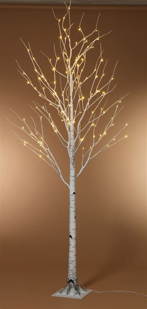foot led lighted birch tree warm white front porches