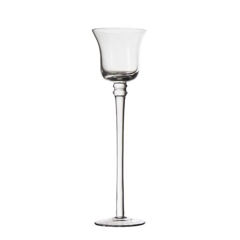 Glass Goblet Candle Holders Stemmed Clear Glass Goblet Candle Holder Buy Candle