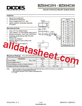 all zener diode datasheet pdf bzx84c5v1 datasheet pdf diodes incorporated