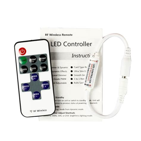 led light control software mini led controller dimmer with rf wireless remote control