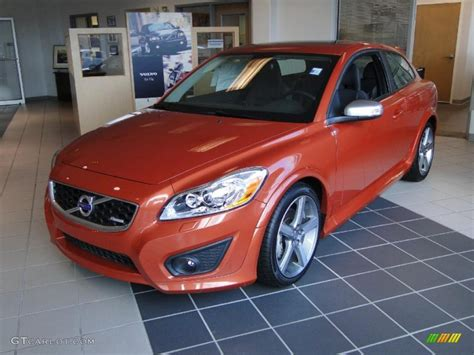 orange flame metallic volvo    design  photo  gtcarlotcom car color