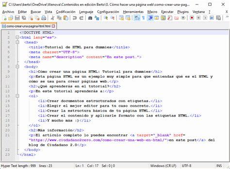 viii como presentar su hoja de vida pgina web de c 243 mo crear una p 225 gina web en html tutorial paso a paso