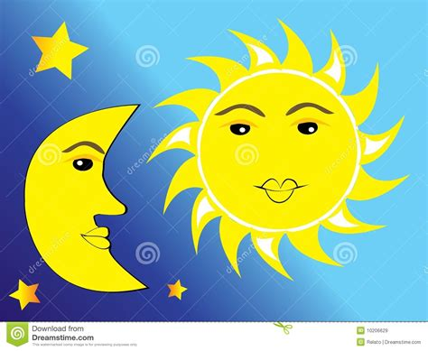 sun moon and royalty free stock images image