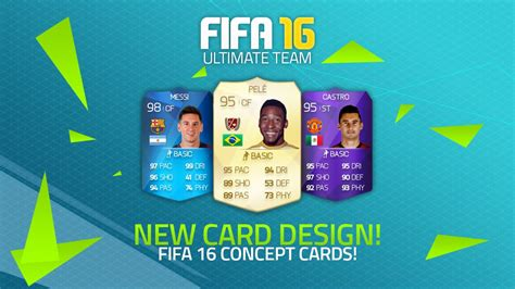 fifa 11 ultimate team card template potential fifa 16 card design new concept cards fifa