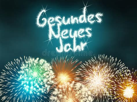 gesundes neues jahr german happy  year stock image image  celebration independence