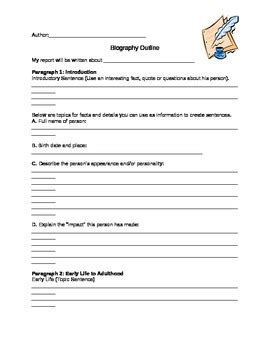 biography facts template biography outline by christina anderson teachers pay