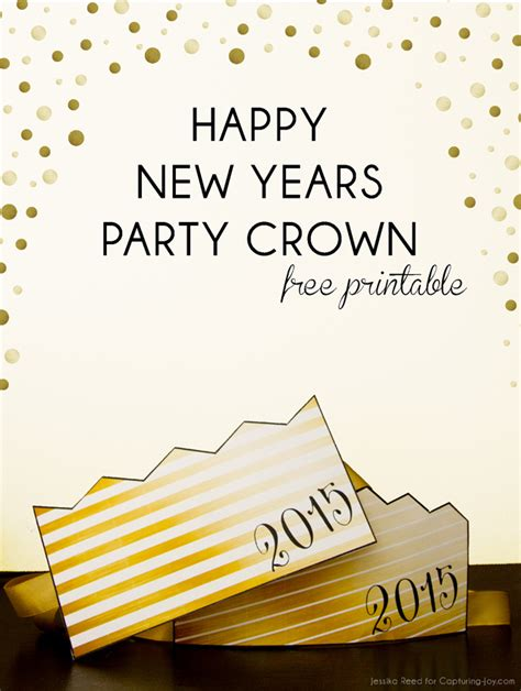 printable new year s crown happy new year party crown free printable capturing joy