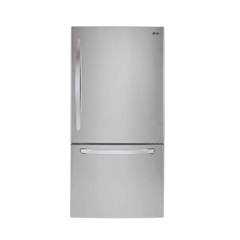 lg appliances refrigerators appliance parts household lg electronics 24 cu ft bottom freezer refrigerator in