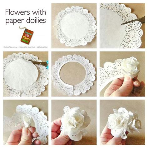 What To Make With Paper Doilies - paper doily flowers pesquisa flores de papel