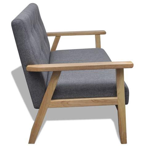 divano di legno divano di legno in stile retro grigio vidaxl it