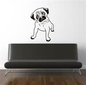 Puppy Wall Stickers pug puppy dog wall art sticker h532k pug puppy dog wall art sticker
