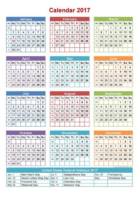 free 2017 calendar for you to print keeping life sane