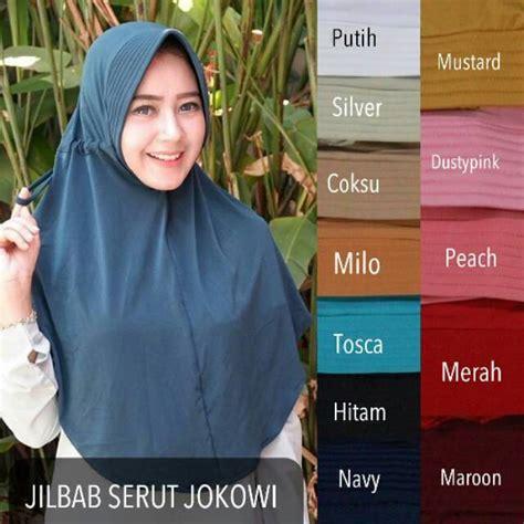Promo Murah Jilbab Serut Polos adinda jilbab serut polos jokowi banyak warna serut