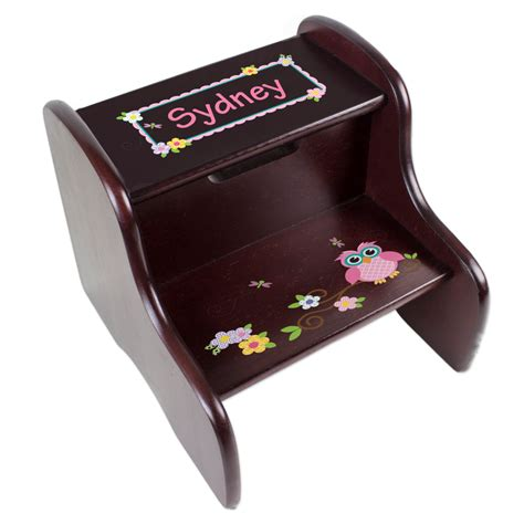 Personalized Stools by Personalized Children S Owl Step Stool For Hoot Nursery