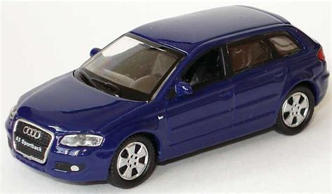 Audi A3 Sportback Modellauto by 1 87 Audi A3 Sportback Blau Welly