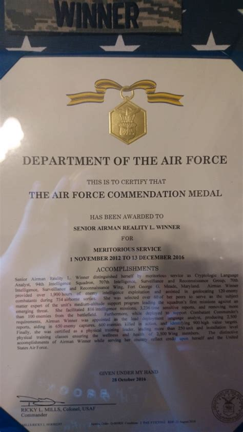 air commendation medal template air honored reality winner for taking out enemy