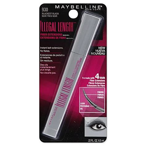 Maskara Maybelline Illegal Lengths maybelline 174 illegal length 174 fiber extensions washable