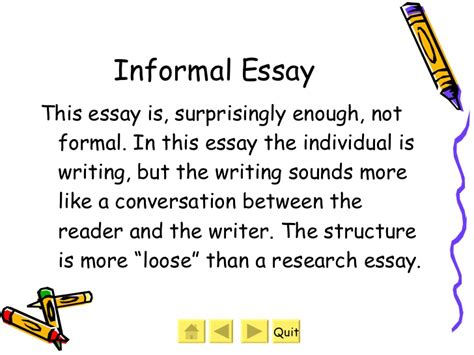 Writing The Name Of A Book In An Essay by What Is An Informal Essay Exles How To Write An Informal Essay Rawson Writing Book