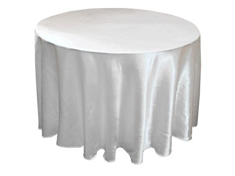 round table with white tablecloth white satin table cloth round 108 inch wholesale bulk