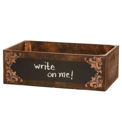 Home Depot Small Wood Box 24 In Vintage Wooden Brown Chalkboard Box 0107 The Home