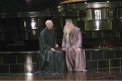 Out On Set by Dumbledore And Voldemort Hanging Out On The Set Of Harry