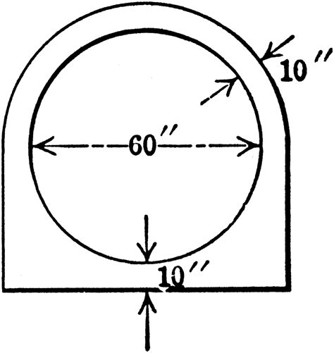 Geometric Solids With Circular Cross Sections by Cross Section Of Concrete Conduit Clipart Etc