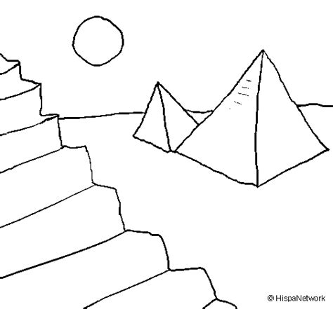 imagenes egipcias para niños dibujo de pir 225 mides para colorear dibujos net