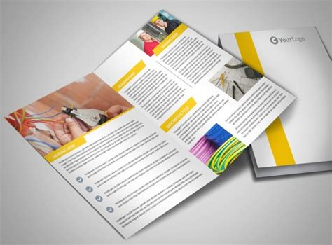 brochure templates electrical electrician bi fold brochure template