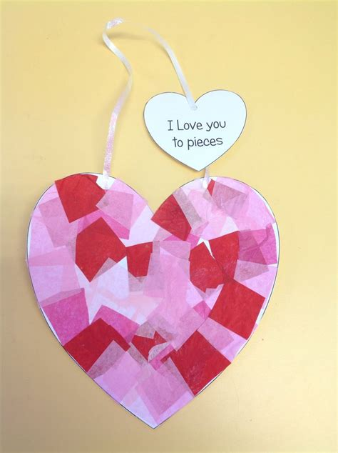 paper craft valentines tissue paper craft for valentines valentines day