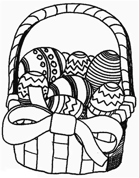 coloring pages for easter basket easter eggs coloring part 18