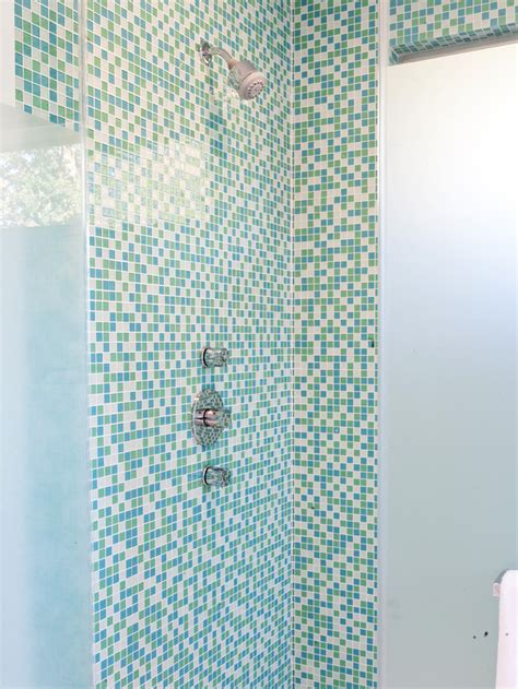 Mosaic Shower Tile by High End Bathroom Tile Designs