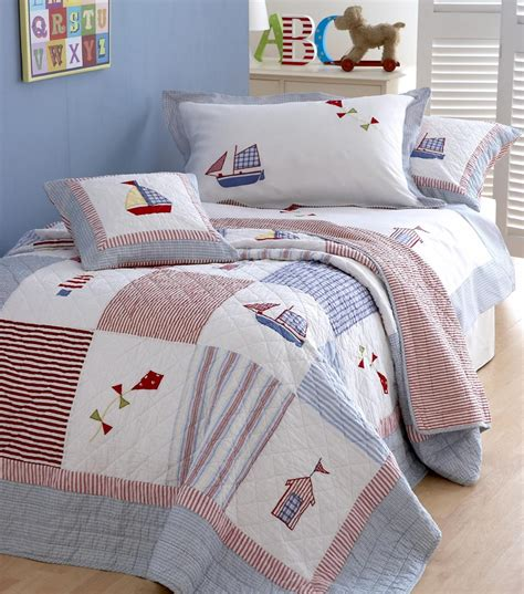 Single Quilted Bedspreads Uk by Boats Kites Single Quilted Bedspread In Quilts Bedspreads