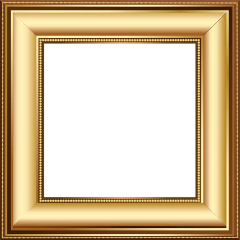 Gold And Brown Transparent Photo Frame Template Backgrounds Pinterest Frame Clipart Frame Photo Frame Template