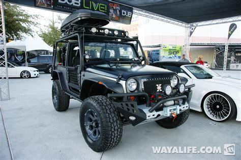 jeep custom 2 door 2012 sema kao custom black silver 2 door jeep jk wrangler
