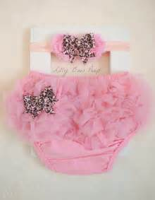 Pink diaper cover amp flower headband set baby girl clothes baby diaper