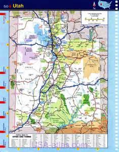 Utah Map by Map Of Utah Detailed Road Map Of The State Of Utah
