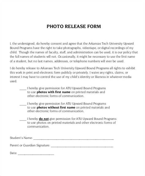 photo release form template 9 free pdf documents